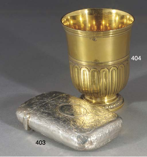 A French Silver-Gilt Beaker