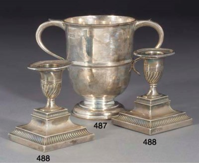 A SILVER CHALLENGE CUP