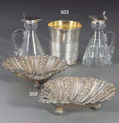 A PAIR OF LATE VICTORIAN SHELL