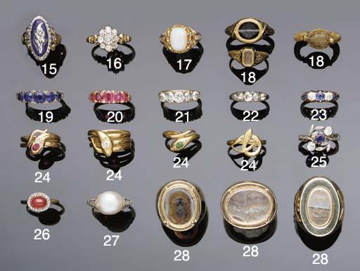 A Victorian sapphire five ston