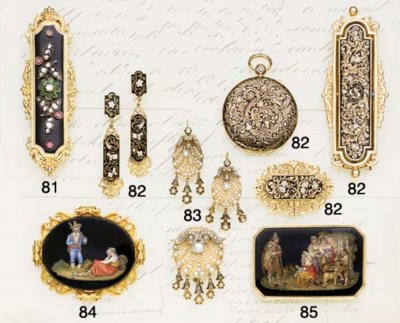 A 19th century gold and mosaic