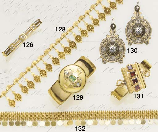 A Victorian gold, foiled emera
