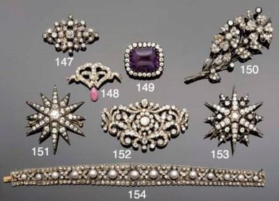 An antique diamond flower-spra