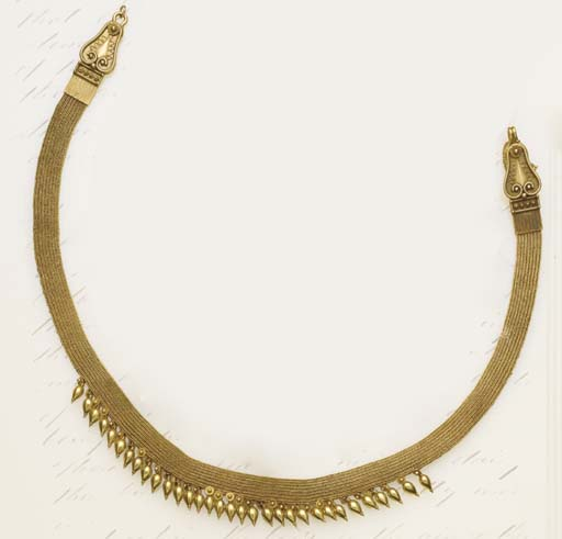 A 19th century gold necklace