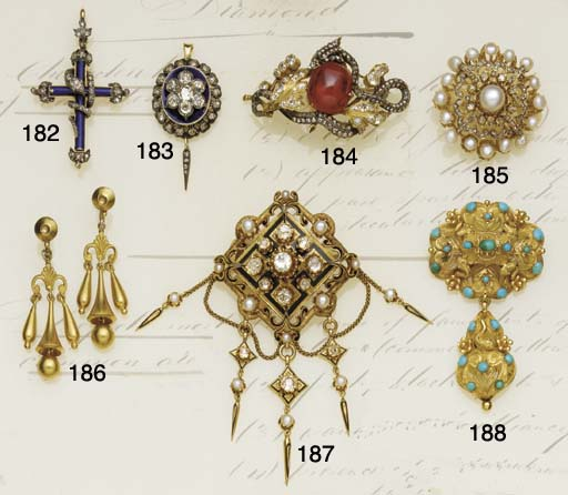 A Victorian diamond and enamel