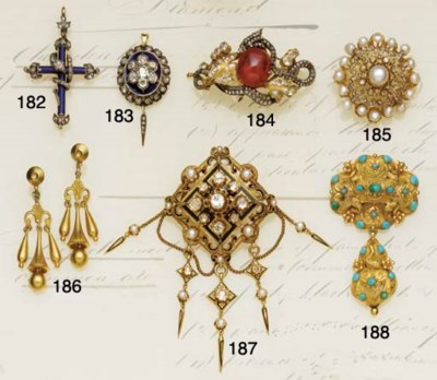 A 19th century gold and turquo