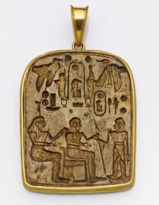 A 19th century gold mounted ha