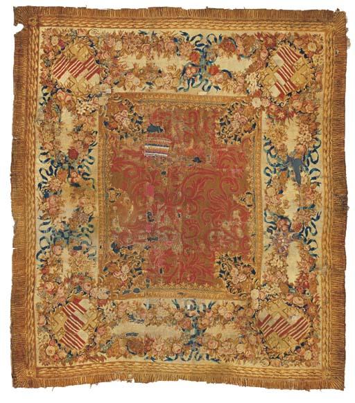 An antique Axminster carpet