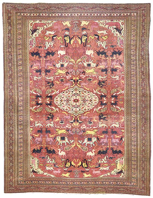 An antique Khorassan carpey,