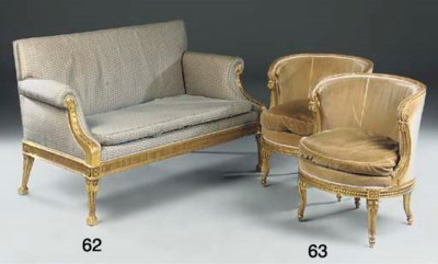A giltwood and composition sof