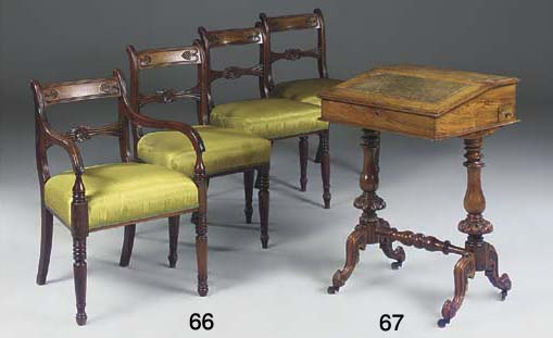 A SET OF SEVEN REGENCY MAHOGAN