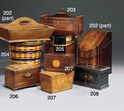 An English brass bound mahogan