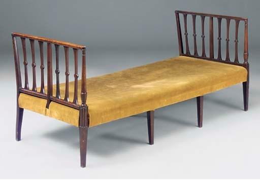 A mahogany day bed