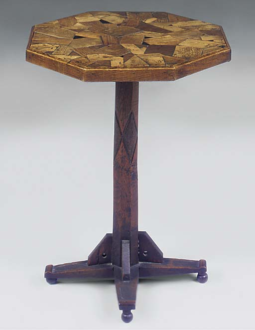 A Victorian octagonal speciman wood table