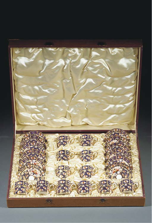 A cased set of twelve Royal Crown Derby Imari coffee cans and saucers