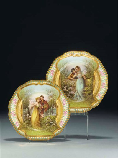 A pair of Rosenthal 'jewelled'