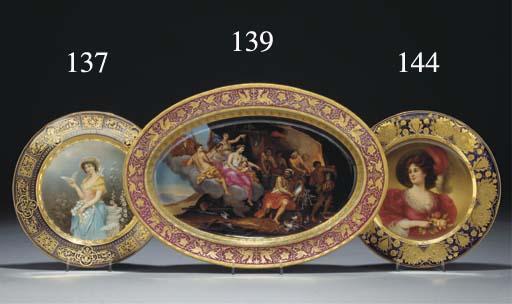 A Vienna-style portrait plate