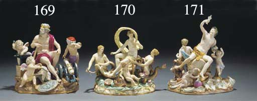 A Meissen group of Galatea and