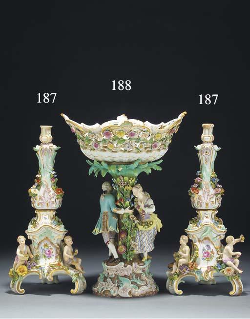 A Meissen centrepiece-basket
