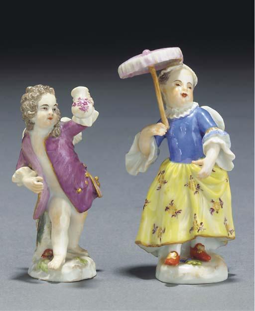 A Meissen figure of Cupid disg
