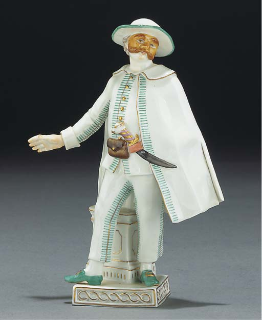 A Meissen theatrical figure fr