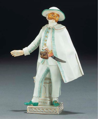 A Meissen theatrical figure fr