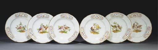 Eleven Royal Worcester plates