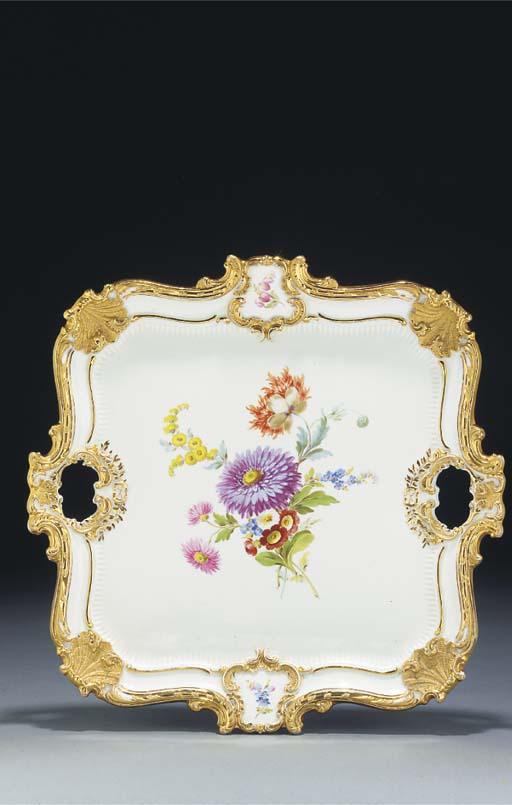 A Meissen tray