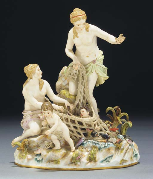 A Meissen group of the Capture of the Tritons