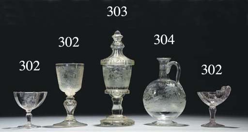 A Bohemian goblet and cover an