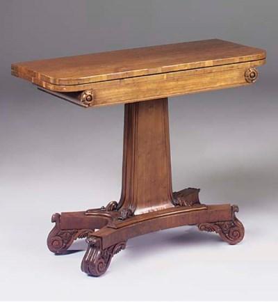 A William IV carved mahogany c