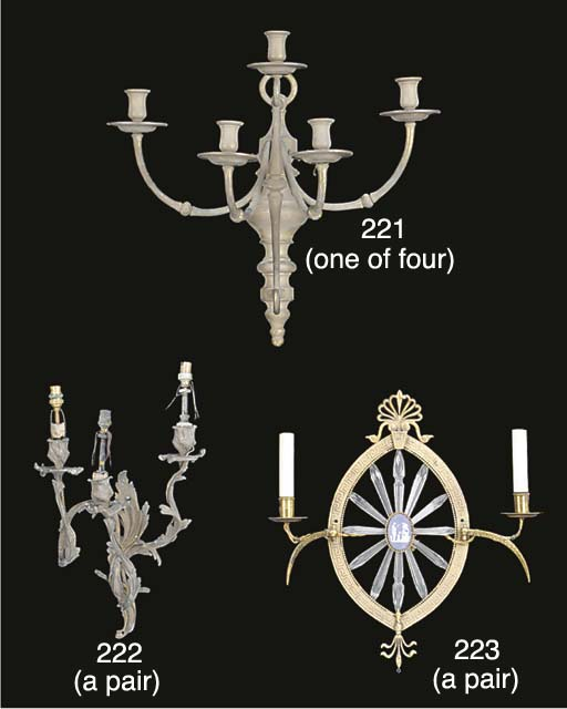 A set of four Victorian gilt-b