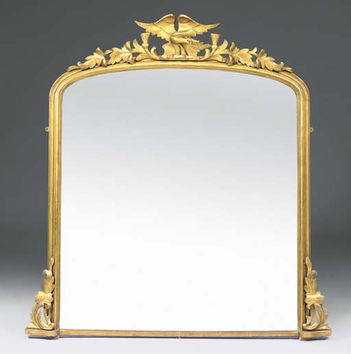 A Victorian giltwood and gilt