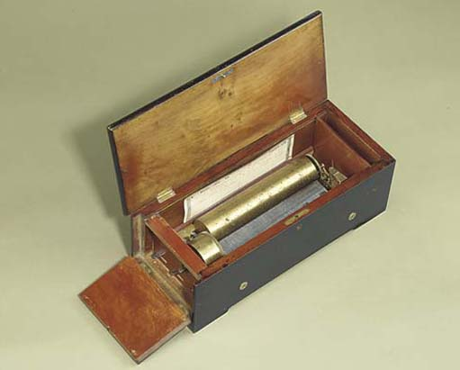 A key-wind musical box