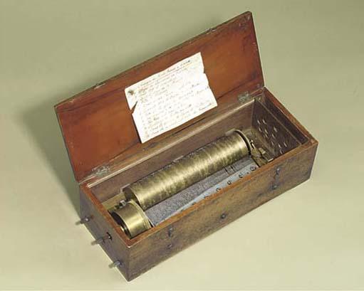 A key-wind musical box by F. N