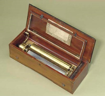 A musical box playing eight op
