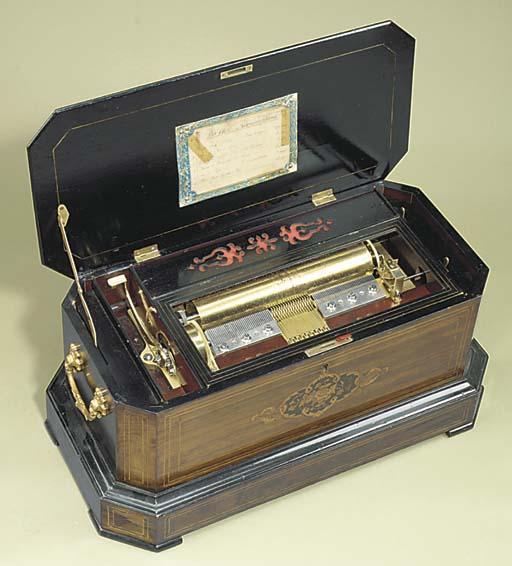 A Harmoniphone musical box by