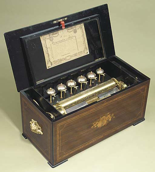 A Harmoniphone musical box wit