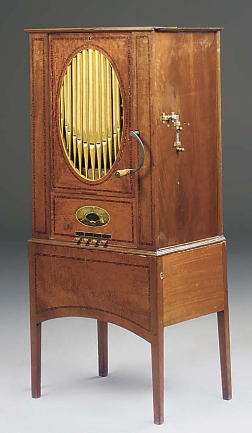 A 17-key chamber barrel-organ