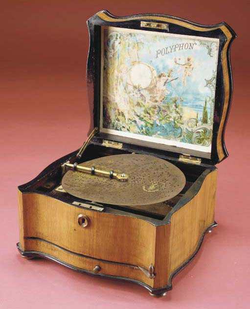 An 8¼-inch Polyphon disc music