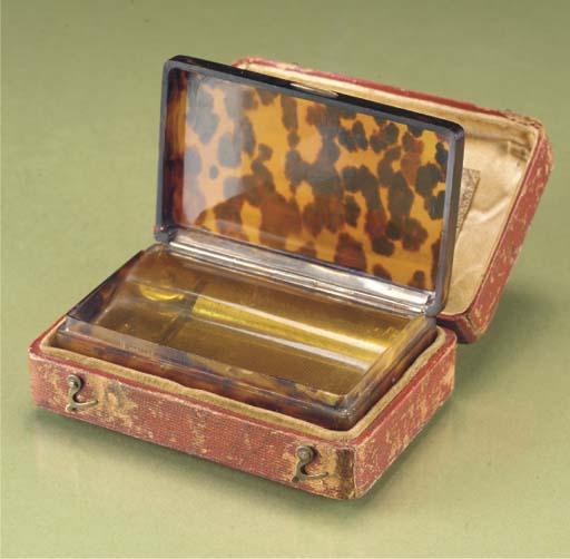 A musical snuff box by Bordier