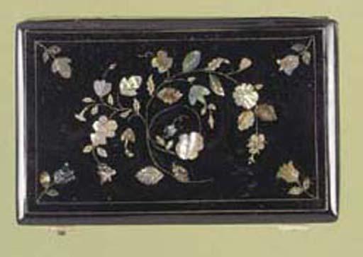 A musical snuff box