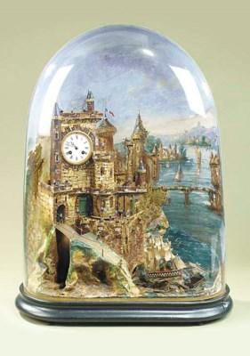 A rocking ship automaton clock