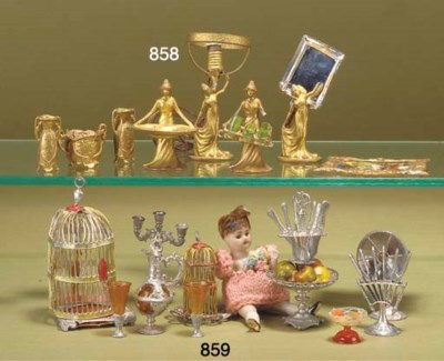 Art Nouveau dolls' house chatt