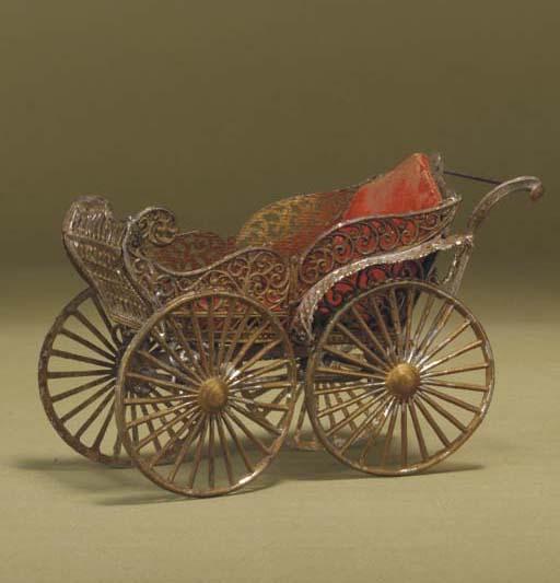 A rare gilt soft-metal perambu