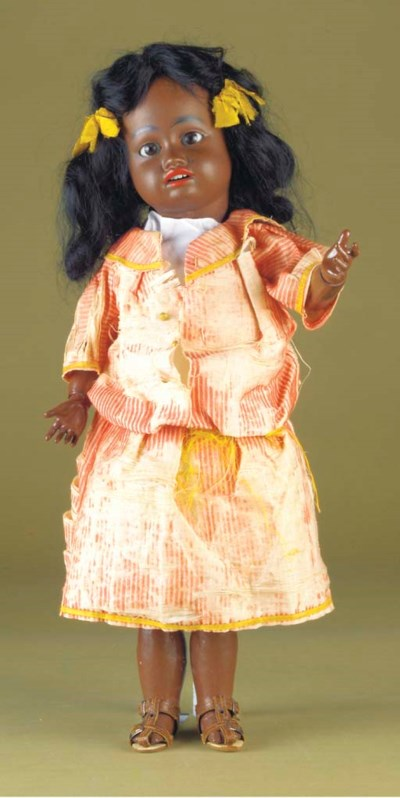 A Kuhnlenz 34 black doll