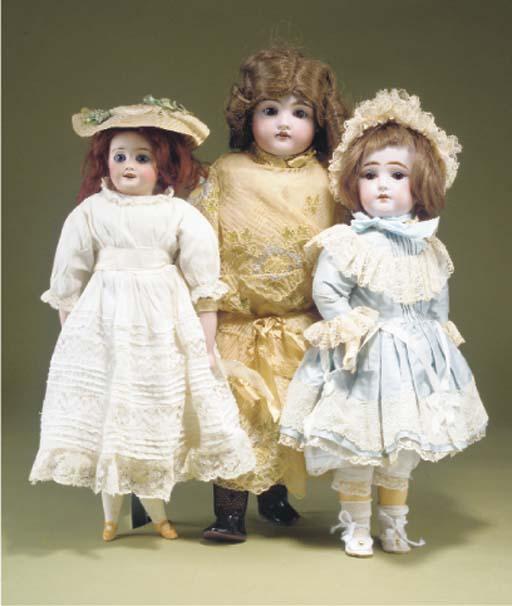 A Limoges shoulder-head doll