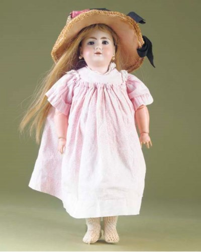 A bisque headed doll
