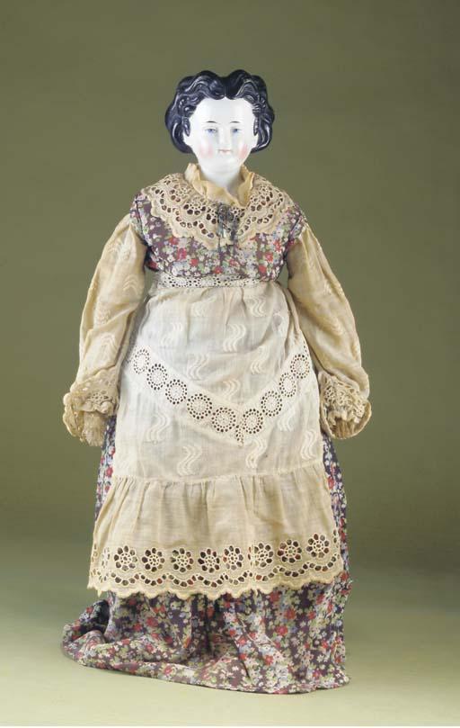 A china shoulder head doll