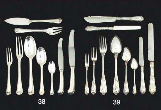 A CANTEEN OF FRENCH SILVER FLA